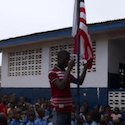Flag raised at Liberia school