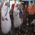 Nuns teaching children