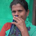 Indian farmers' widow
