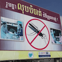 Billboard with mosquito for malaria prevention