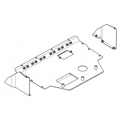 Metal Undertray for Fiat, Steel Under Engine Cover for Fiat