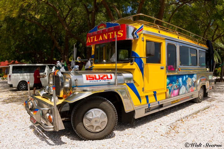 Atlantis Dive Resort's own custom air-condition Jeepne used for shuttling guests back and forth between the airport and Dumaguete resort.
