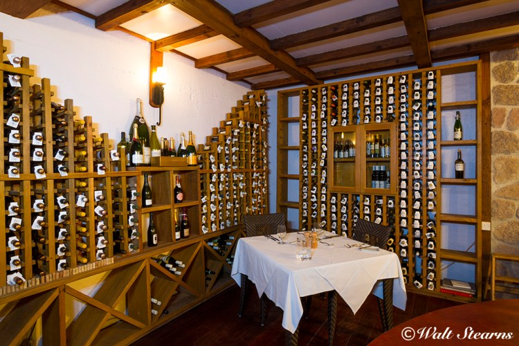Ti Kave win cellar at Ti Kaye Resort & Spa, St. Lucia, Caribbean