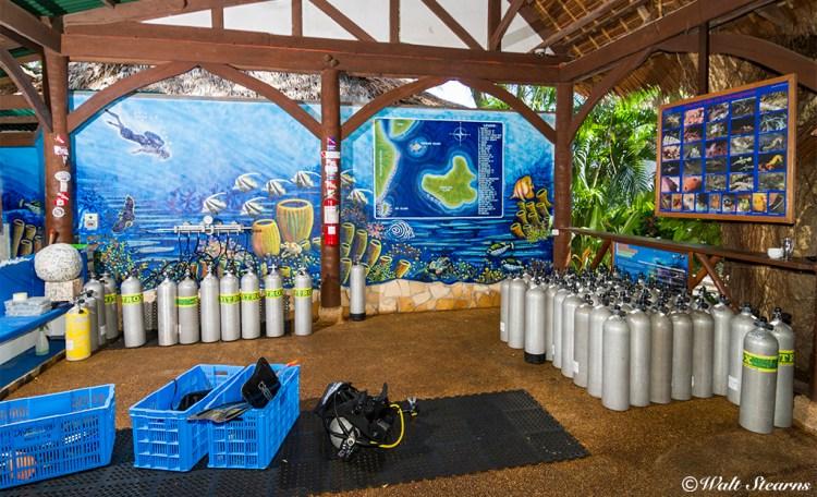 Atlantis Dumaguete Resort's dive center.