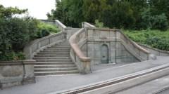 Jelisaveta Načić - Escalera en la fuente, 1903 Parque Kalemegdan