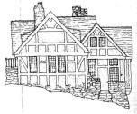 Ruth Maxon Adams, elevación de una de las casas sin cocina en Yelping Hill, 1922