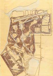 Primer boceto del Bosque de Amsterdam - Amsterdamse Bos - de Jakoba Mulder