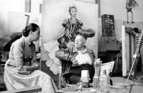 Ruth Rivera Marín y su padre Diego Rivera en San Ángel