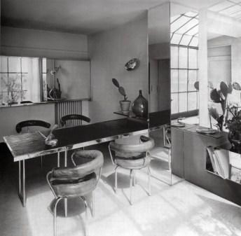 Charlotte Perriand. Comedor de la residencia-taller de la Place Saint-Sulpice, 1927