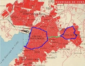 Plano de la ciudad de Santiago de Cuba - Expansión - Reparto de Vista Alegre y Terraza
