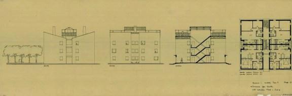 Egle Trincanato, Concurso para el proyecto de casas a construir en estuario norte y sur de la Laguna de Venecia, 1947.