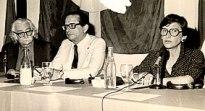 Roberto Burle Marx, el gobernador de Bahia, Roberto Santos, y Rosa Grena Kliass, presidente de ABAP.