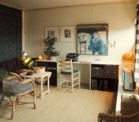 Birgit Cold, T. Brantenberg & E. Hiorthøy (1968): Cooperativa Haugtussa (Tjensvoll, Stavanger). Interior de una vivienda.