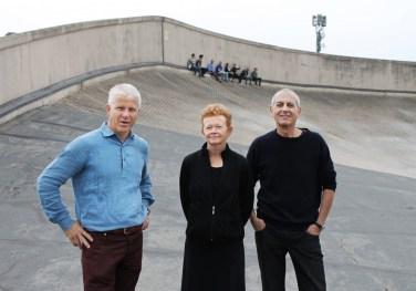 Sarah Graham con Manuel Scholl y Marc Angélil, Turín , 2013