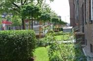 """Johanna Spalink-Sievers, Las áreas de entrada y patios delanteros """"Ricklinger Stadtweg"""" en Hannover"""
