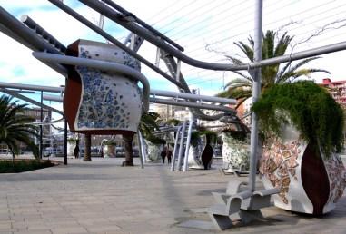 Benedetta Tagliabue . EMBT. Parque Diagonal Mark, Barcelona 2003.