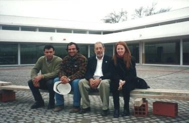 Mariel Suárez con Arq. Siza y parte del equipo