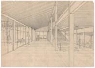 Karen y Ebbe Clemmensen, Instituto de Skive (1957): Perspectiva interior.