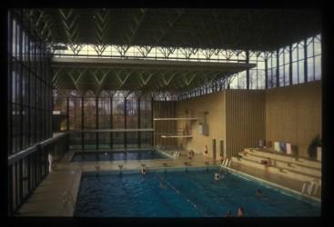 Karen y Ebbe Clemmensen, Centro Deportivo Kildeskovhallen (Gentoften, 1962): Vista vasos de piscina. Estado actual