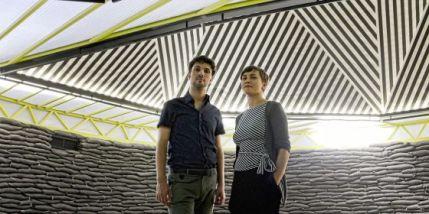 Víctor Navarro y María Langarita en su obra de Matadero.