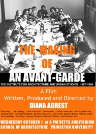 Diana Agrest, The making of an avant-garde