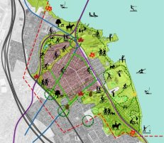 Diana Agrest y Mario Gandelsonas, South Amboy Landscape Masterplan
