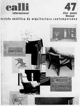 Clara Porset, portada Revista Calli Internacional 1964, con butacas de Clara Porset