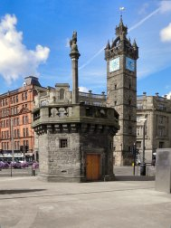 Edith Mary Wardlaw Burnet Hughes . Mercat Cross, Glasgow