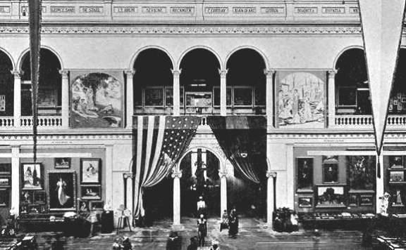 Sophia Hayden Bennett, Interior Edificio de la Mujer. Exposición Mundial de 1893