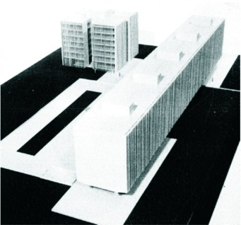 Mayumi Watanabe, proyecto final de maestría: Unidad de Vizinhança de São Miguel, Brasilia, 1963