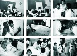 Mayumi Watanabe, actividades con alumnos en la escuela Jardim Fortaleza