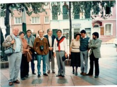 Con Cristian Fernandez Cox, Marina Waisman, Eduardo Sanmartín, Enrique Browne, Alberto Petrina, Carlos Eduardo Comas, Silvia Arango y Jorge Ramirez.