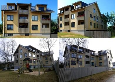 Mai Šein: Edificio de apartamentos en Calle Vabriku n.8. Vistas exteriores.