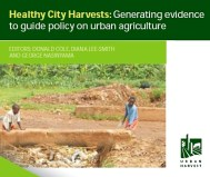 Diana Lee-Smith. Healthy City Harvests