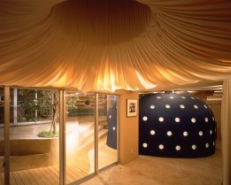 Kathryn Findlay. Casa Blanda y Peluda, Tokio (1994). Espacio interior de la vivienda.