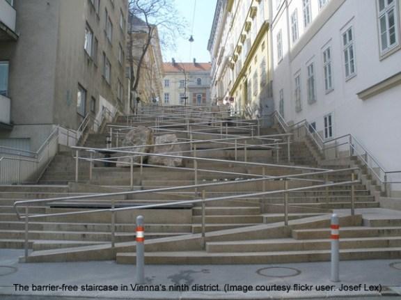 Eva Kail, escalera sin barreras en Viena