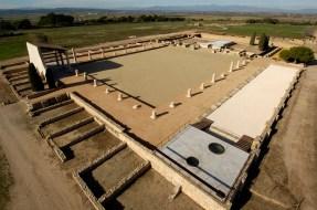 Lola Domènech, equipo de arqueólogos del MAC, restauración, consolidación y adecuación del Foro romano de Empúries, Girona, 2007-2009