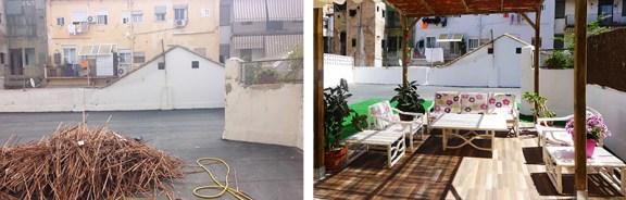 Tania Magro, Amaya Martínez, Encajes de Arquitectura, acondicionamiento por partes de una terraza, Ruzafa, Valencia