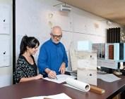 Gloria Cabral y Peter Zumthor durante los encuentros del Programa Artístico Rolex.