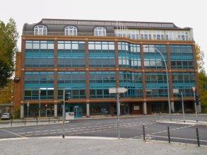Ute Weström y Winnetou Kampmann. Edificio Fondo de bienestar social de la industria de la construcción de Berlín