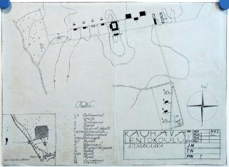 Elsa Arokallio. Plano de la Escuela de la Fuerza Aérea de Kauhava (1928)
