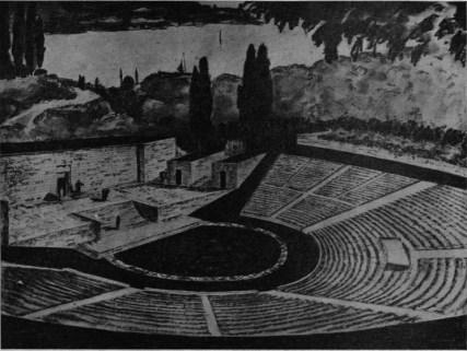 Leyla Asim Turgut, Proyecto para un teatro al aire libre, Estambul, Turquía, 1946