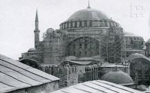 Cahide Tamer, Hagia Sofia durante su restauración, 1956.