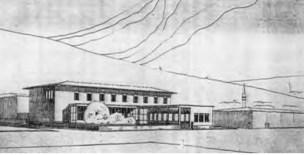 Leman Tomsu, Münevver Belen, Proyecto para la Casa del Pueblo en Karamursel, 1936