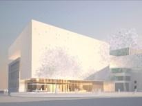 Tiina Parkkinen y Alfred Berger, Museo Vorarlberg, complejo de museos con auditorio. Bregenz, Austria