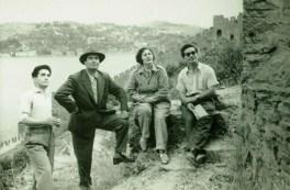Cahide Tamer, visita a la restauración de la Fortaleza Rumeli, 1954