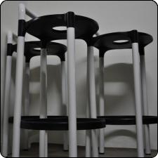 Anna Castelli - polo-stool para Kartell.