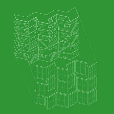 Pilar Echezarreta, Enrioque Moya- Angeler. 400 dwelling inspired in urban-species. 2006, España.