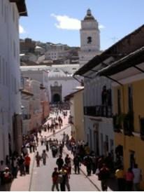 Mónica Moreira, Calle Cuenca después de la reubicación, Centro Histórico Quito.