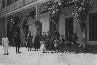 Luz Sobrino Sanz y su familia en Chiguayante, Concepción, Chile, Enero1923